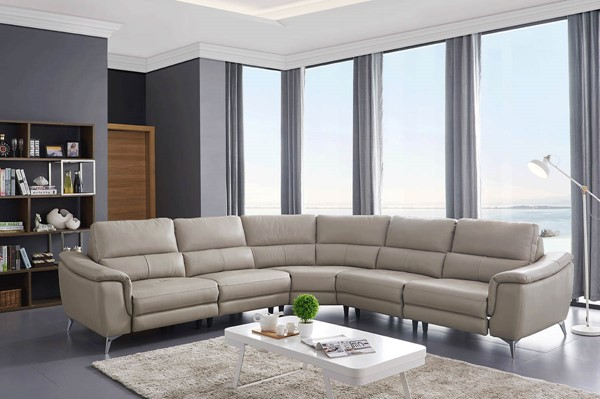 ESF Extravaganza 951 Light Grey Leather Sectional ESF-i21917