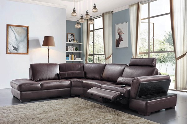 ESF Extravaganza 445 Dark Brown Right Facing Sectional ESF-i21933