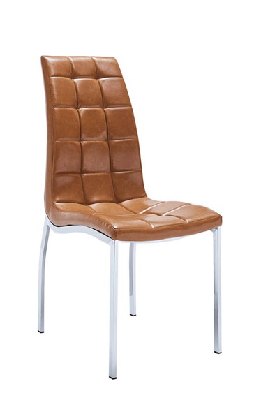 4 ESF European 365 Brown Eco Leather Dining Chairs ESF-i22105