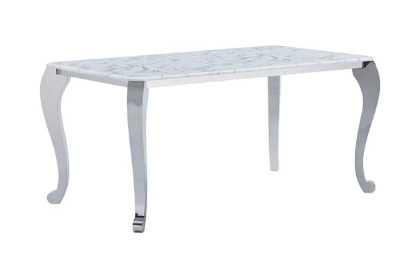 ESF Extravaganza 110 White Marble Dining Table ESF-i22152