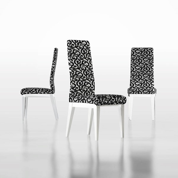 ESF Fenicia Spain Cordoba White Black Fabric Side Chair ESF-i22259