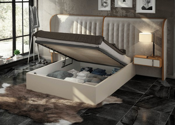 ESF Fenicia Spain Cadiz Natural King Storage Bed ESF-i22296