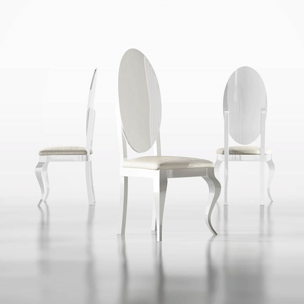 ESF Franco Spain Carmen White Side Chair ESF-i22324