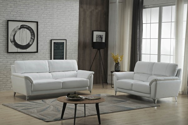 ESF Extravaganza 406 White 2pc Living Room Set ESF-i2237-LR-S2