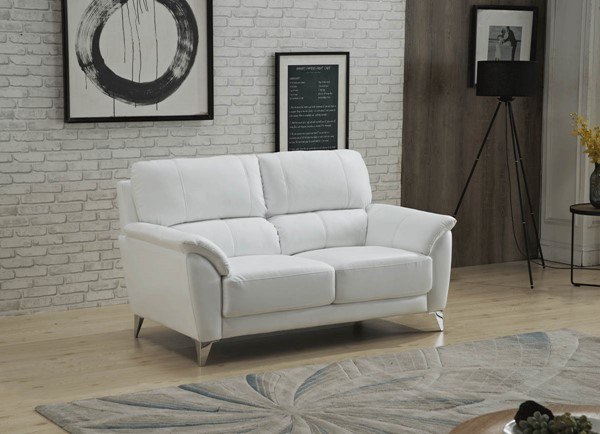 ESF Extravaganza 406 White Bustle Back Loveseat ESF-i22377