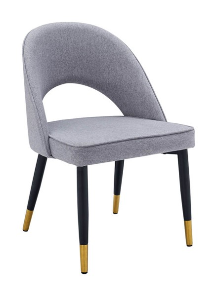 2 ESF Extravaganza 131 Grey Gold Dining Chairs ESF-i23779