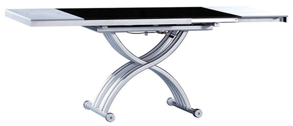 ESF Extravaganza 2109 White Black Dining Table ESF-i3931