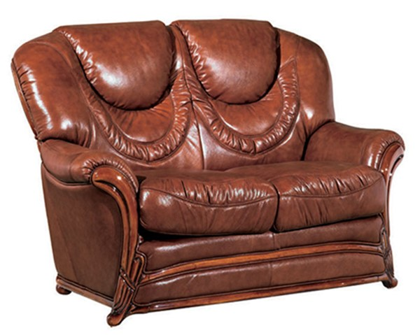 ESF SWH Classic Living 67 Brown Leather Loveseat ESF-i4953