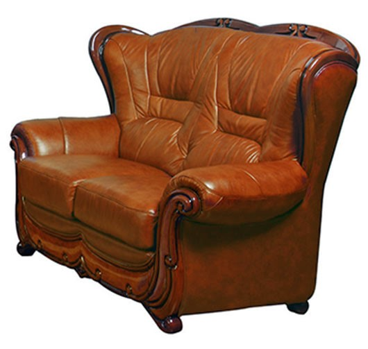 ESF SWH Classic Living 100 Brown Leather Loveseat ESF-i6315