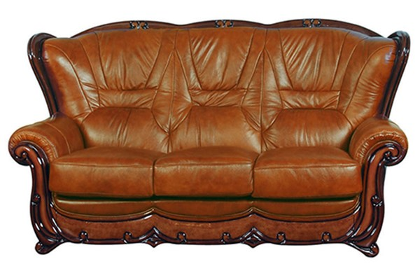 ESF SWH Classic Living 100 Brown Leather Sofa ESF-i6316