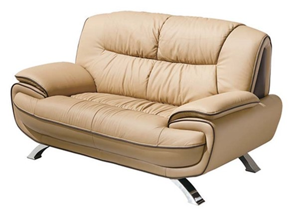 ESF RXN Classic Living 405 Brown Leather Loveseat ESF-i901