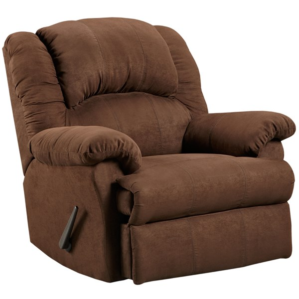 Aruba Contemporary Chocolate Microfiber Bustle Back Rocker Recliner FLF-2001ARUBACHOCOLATE-GG