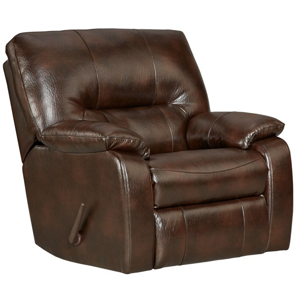 Canyon Chocolate Leather PU Steel Wood Rocker Recliner FLF-2330CANYONCHOCOLATE-GG