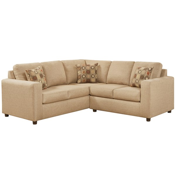 Vivid Beige Olefin Polyester Steel Wood 2pc Sectional FLF-3850SECVIVIDBEIGE-GG