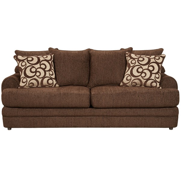 Caliber Walnut Chenille Polyester Polypropylene Wood Sofa FLF-4653CALIBERWALNUT-GG