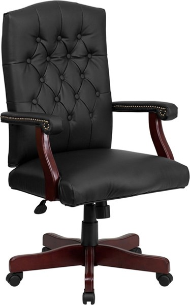 Flash Furniture Martha Washington Leather Executive Swivel Chairs FLF-801L-LF0005-LEA-GG-VAR