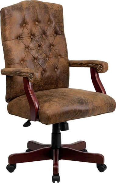 Flash Furniture Bomber Brown Executive Office Chair FLF-802-BRN-GG
