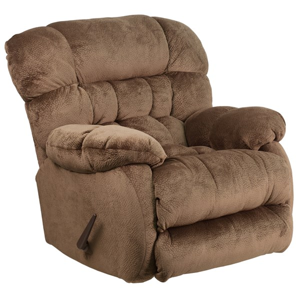 Sharpei Contemporary Espresso Microfiber Steel Wood Rocker Recliner FLF-AM-9460-5983-GG