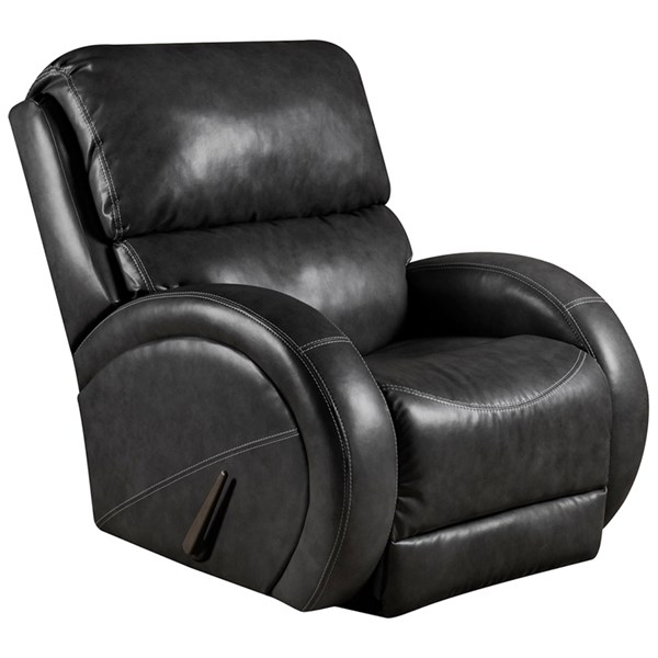 Bentley Contemporary Black Leather Steel Wood Leather Rocker Recliner FLF-AM-9490-9072-GG