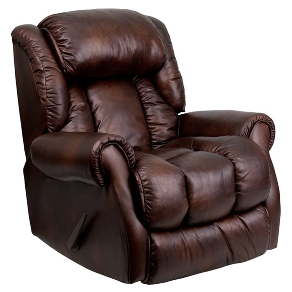 Gracia Bonded Leather Chaise Rocker Recliners FLF-AM-9650-GG-VAR