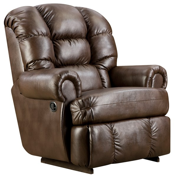 Loggings Espresso Leather Wood Big and Tall Recliner FLF-AM-9930-8550-GG