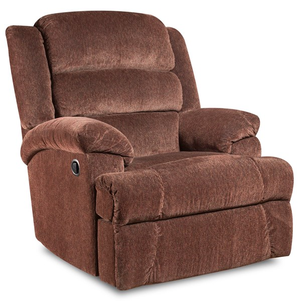 Aynsley Claret Microfiber Wood Big and Tall Recliner FLF-AM-9960-7921-GG