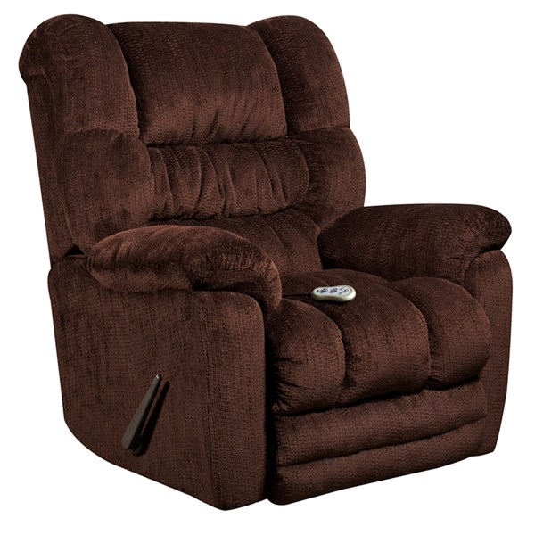 Temptation Mahogany Microfiber Wood Massage Recliner w/Heat Control FLF-AM-H9560-6452-GG