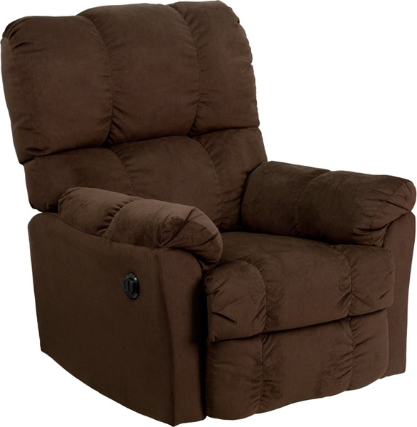Top Hat Contemporary Chocolate Microfiber Power Recliner w/Push Button FLF-AM-P9320-4171-GG