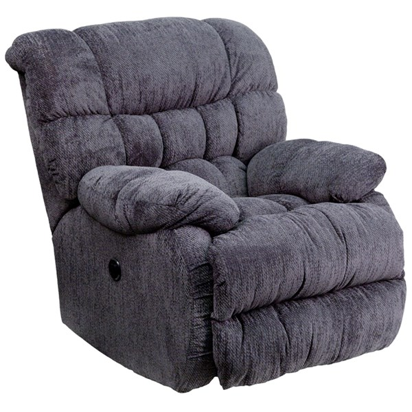 Columbia Contemporary Microfiber Steel Wood Push Button Power Recliner FLF-AM-P9460-GG-REC-VAR