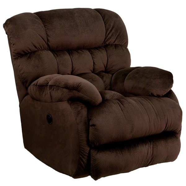 Sharpei Contemporary Chocolate Microfiber Wood Recliner FLF-AM-P9460-5980-GG