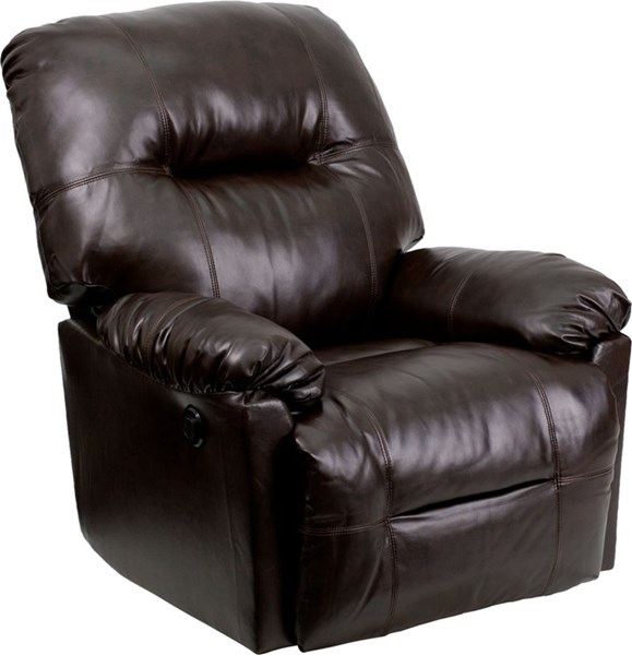 Bentley Brown Leather Chaise Power Recliner FLF-AM-CP9350-9075-GG