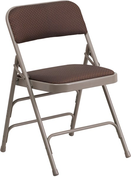 Hercules Series Beige Brown Fabric Metal Chair FLF-AW-MC309AF-BRN-GG