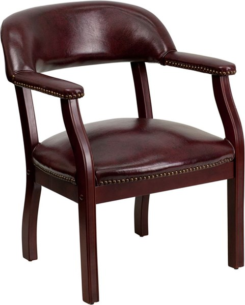 Oxblood Vinyl Luxurious Conference Chair FLF-B-Z105-OXBLOOD-GG