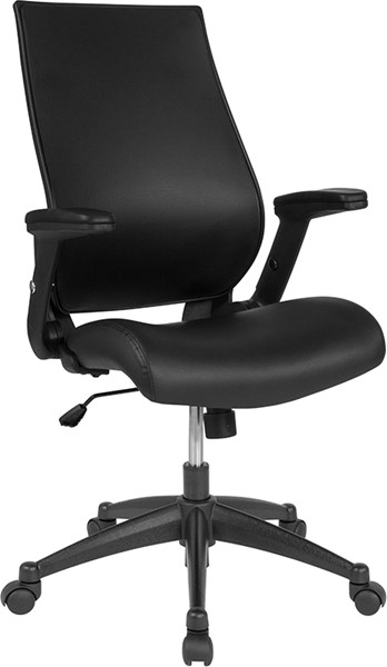 Flash Furniture Black High Back Leather Chair FLF-BL-LB-8809-LEA-GG