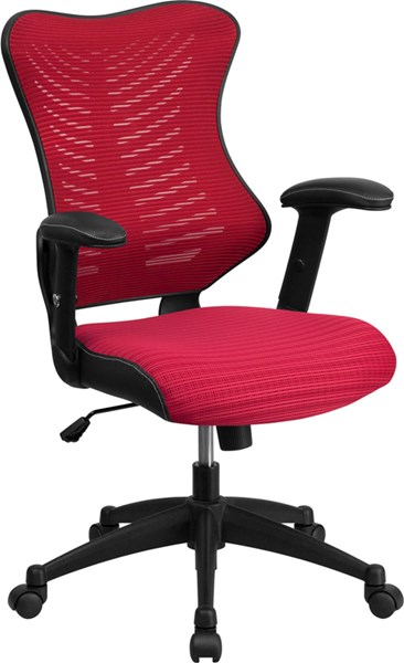 Flash Furniture Burgundy Designer Executive Swivel Office Chair with Mesh Padded Seat FLF-BL-ZP-806-BY-GG