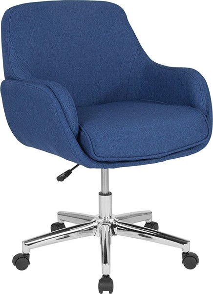 Flash Furniture Rochelle Blue Fabric Mid Back Chair FLF-BT-1172-BLU-F-GG