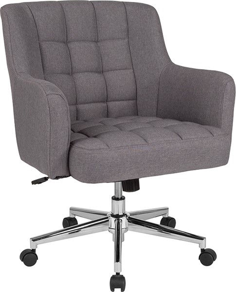 Flash Furniture Laone Light Gray Fabric Mid Back Chair FLF-BT-1176-LGY-F-GG