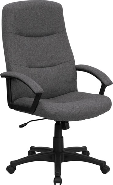 Flash Furniture High Back Gray Fabric Executive Swivel Office Chair FLF-BT-134A-GY-GG