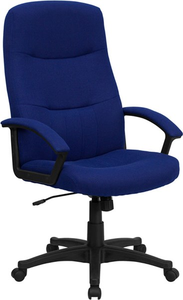 High Back Navy Blue Fabric Executive Swivel Office Chair FLF-BT-134A-NVY-GG