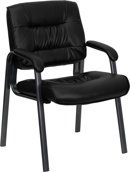 Flash Furniture Black Leather Executive Side Chair with Frame FLF-BT-1404-BKGY-GG