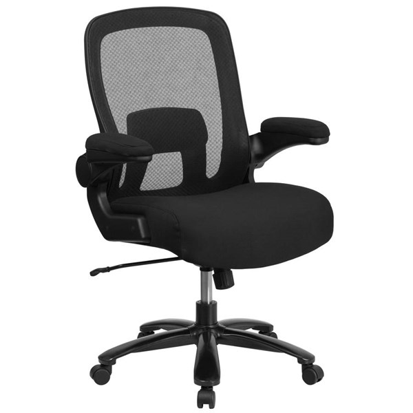 Flash Furniture Hercules Black Mesh Executive Swivel Chair with Adjustable Lumbar FLF-BT-20180-GG