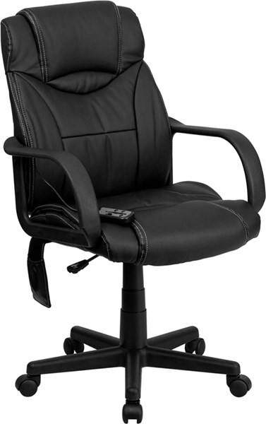 Flash Furniture Black Leather High Back Massaging Office Chair FLF-BT-2690P-GG