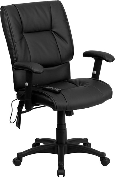 Flash Furniture Black Leather Metal Executive Office Chair FLF-BT-2770P-GG