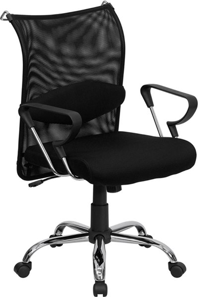 Flash Furniture Mid Back Managers Chair with Padded Mesh Seat FLF-BT-2905-GG
