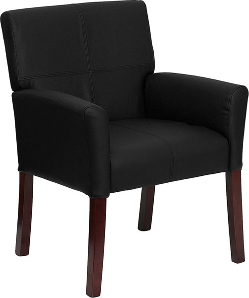 Flash Furniture Black Leather Executive Reception Side Chair FLF-BT-353-BK-LEA-GG