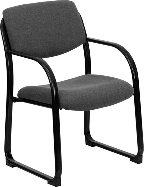 Flash Furniture Gray Fabric Executive Side Chair with Sled Base FLF-BT-508-GY-GG