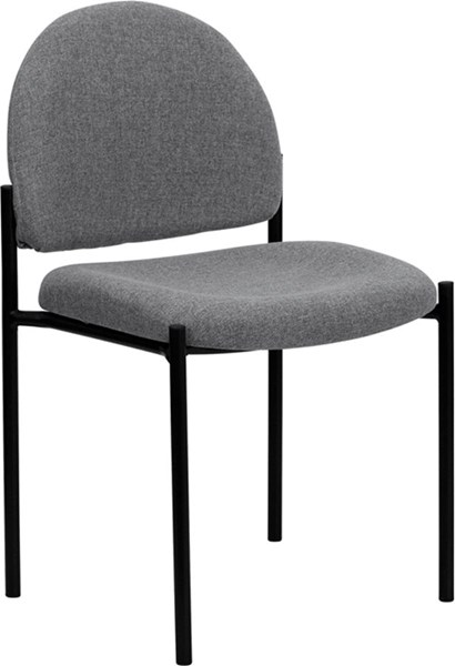 Gray Fabric Comfortable Stackable Steel Side Chair FLF-BT-515-1-GY-GG