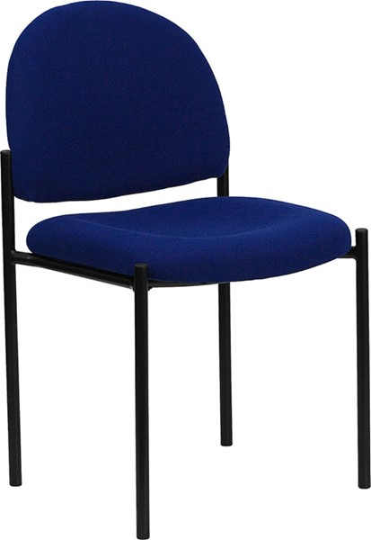 Flash Furniture Navy Fabric Comfortable Stackable Steel Side Chair FLF-BT-515-1-NVY-GG