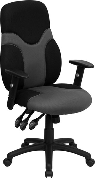 Flash Furniture Black Gray Mesh Task Chair with Arms FLF-BT-6001-GYBK-GG