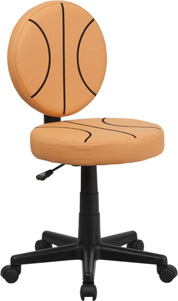 Flash Furniture Black Orange Vinyl Basketball Task Chair FLF-BT-6178-BASKET-GG